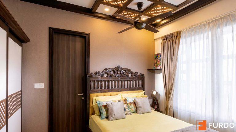 bedroom wooden interior design