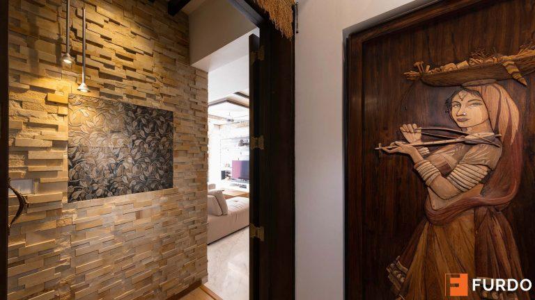 foyer stone cladding