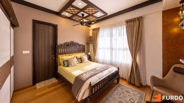 vintage style bedroom interior design
